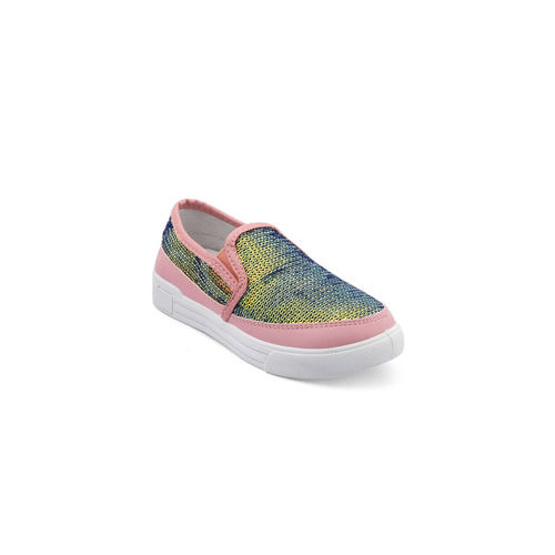 Kittens Girls Pink Slip-On Sneakers