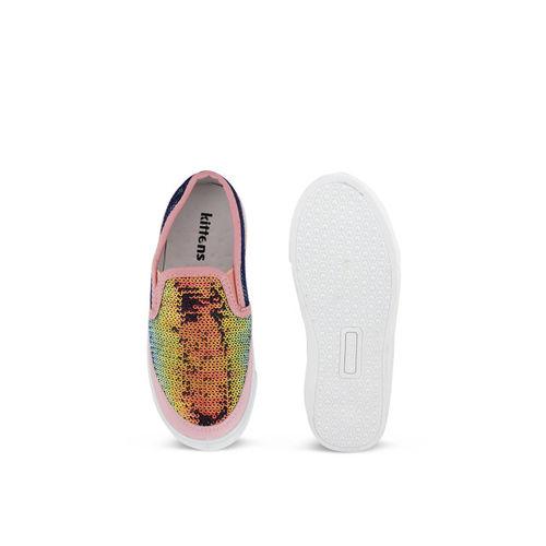 Kittens Girls Pink Slip-On Sneakers