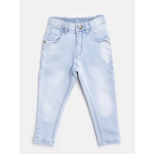 Palm Tree Girls Blue Regular Fit Mid-Rise Clean Look Stretchable Jeans