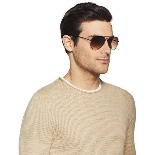 Fastrack UV Protected Aviator Men's Sunglasses - (M138BR2 Brown Color)