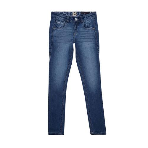 Palm Tree Girls Blue Jeans