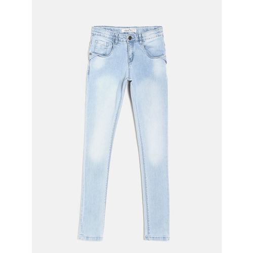 Palm Tree Girls Blue Slim Fit Mid-Rise Clean Look Stretchable Jeans