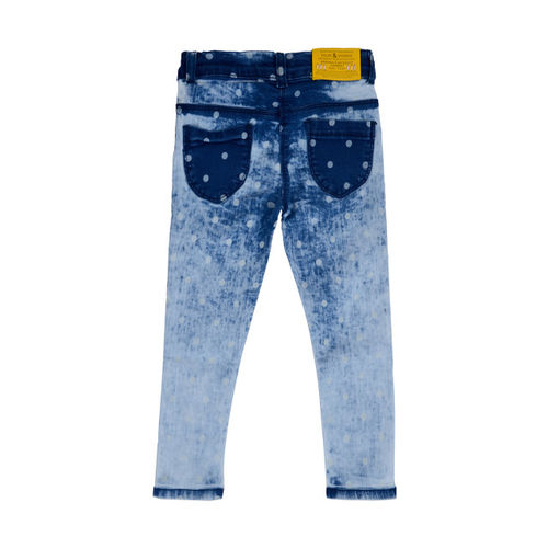 TALES & STORIES Girls Blue Slim Fit Mid-Rise Clean Look Stretchable Jeans
