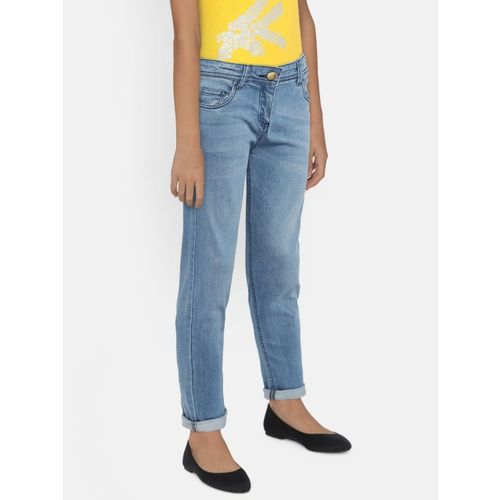 Fame Forever by Lifestyle Girls Blue Slim Fit Mid-Rise Clean Look Jeans