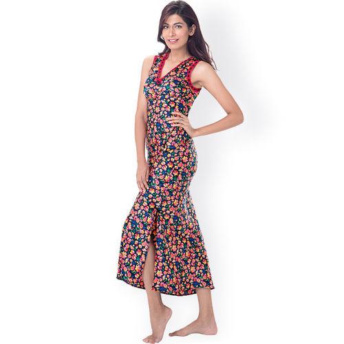 PrettySecrets Multicoloured Floral Print Maxi Nightdress PS0916SLAPSCL02