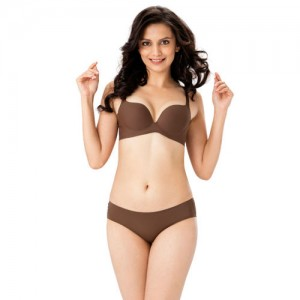 b3b7aa8a62d65 PrettySecrets Women Brown Lingerie Set BP05SS18