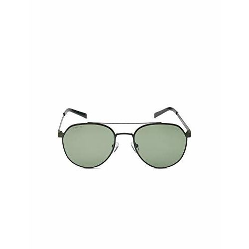 Fastrack UV Protected Round Men's Sunglasses - (M202GR3|55|Green Color Lens)