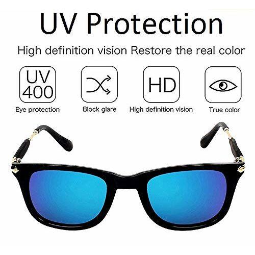 Generic Rex UV Protected blue mercury Sunglasses For unisex (RS00-118AV|51|Blue Mirrored Lens)