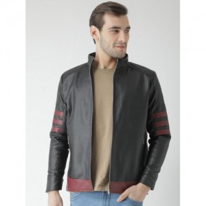 10710cadf Buy Roadies by Justanned Men Brown Colourblocked Leather Jacket ...