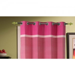 Dekor World 215 cm (7 ft) Cotton Door Curtain (Pack Of 2)