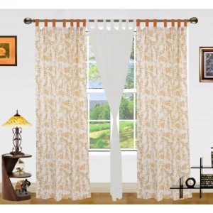 Dekor World 275 cm (9 ft) Cotton Long Door Curtain (Pack Of 3)