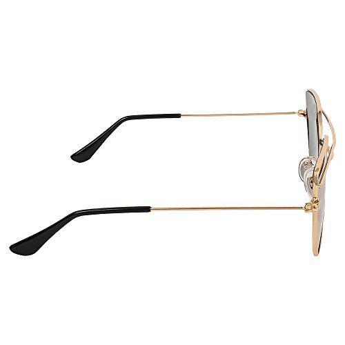 Creature Aviator Uv Protected Unisex Sunglasses (Lens-Golden||Frame-Golden||SUN-008)