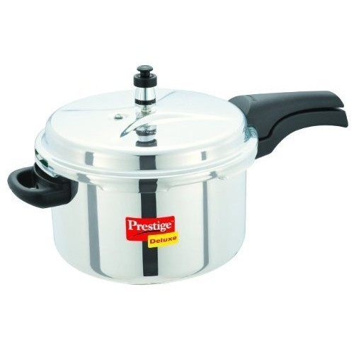 Prestige Deluxe Alpha 6.5 L Induction Bottom Pressure Cooker(Stainless Steel)