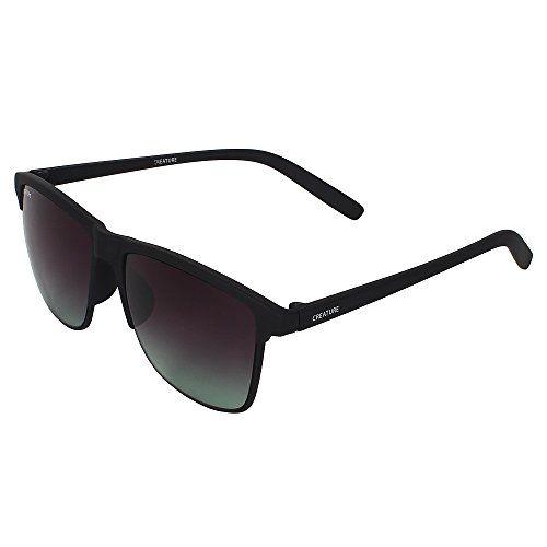 Creature Black & Blue Aviator Sunglasses Combo with UV Protection (Lens-Black & Blue||Frame-Black & Silver||Doit-006-SUN-029)