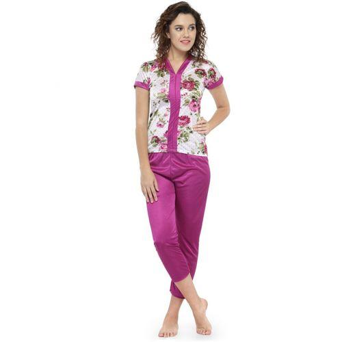 N-Gal Women Printed Multicolor Top & Pyjama Set