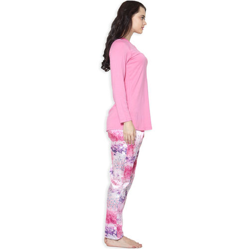 Sweet Dreams Women Pink Solid Night suit