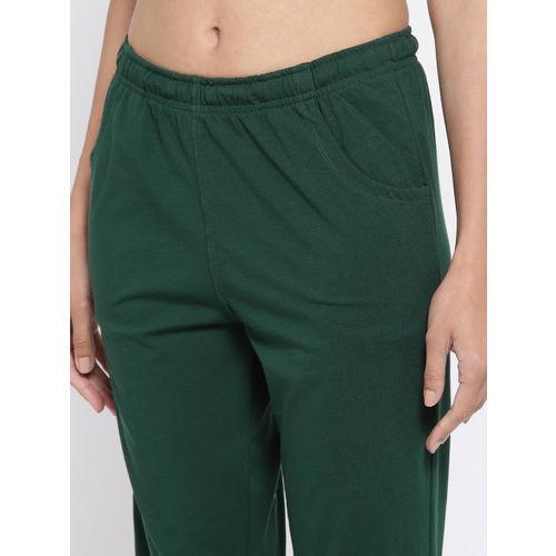 Sweet Dreams Women Green Printed Night Suit 225818