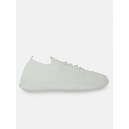 Crew STREET Men White Slip-On Sneakers