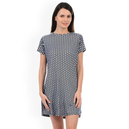 Sweet Dreams Navy & White Printed Nightdress 231518