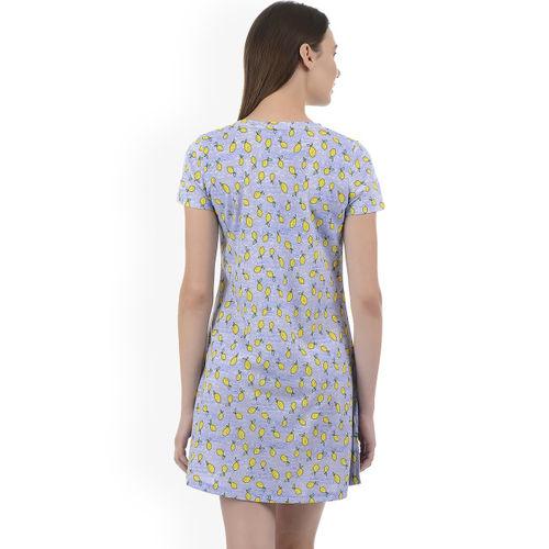 Sweet Dreams Blue Printed Nightdress 200678-AOP-15