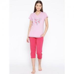 c1ade8251e Buy Sweet Dreams Women Yellow & Black Printed Night Suit 217018 ...