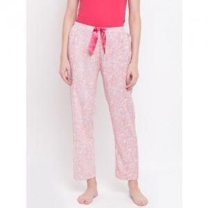 Kanvin Women Pink & Yellow Floral Print Pyjamas MJKSS161K