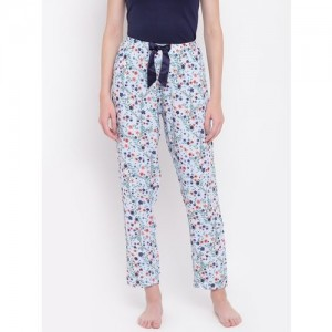 Kanvin Women Blue Floral Print Pyjamas MJKSS161H