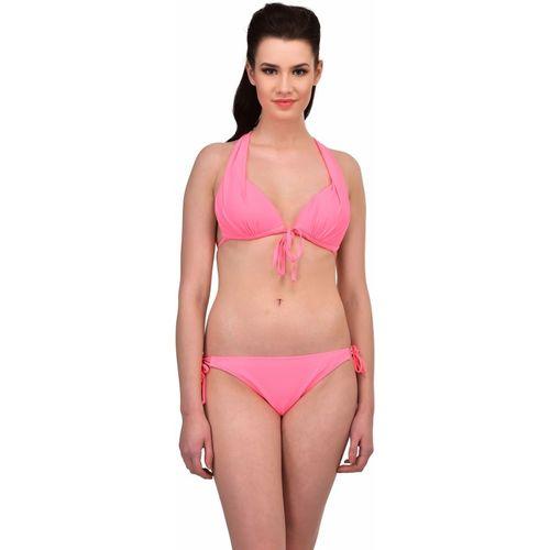 N-Gal Multi-tie Design Strappy Bikini Swimsuit Solid Women's Swimsuit