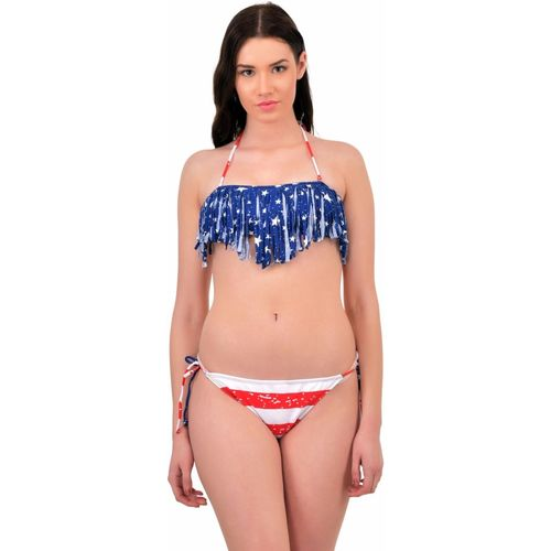N-Gal The Stars And The Stripes Sexy Bikini With Tassel Detail Printed Women's Swimsuit