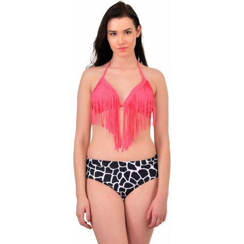 N-Gal Tassel Bikini Dapple Bottom Bathing Suit Printed Women's Swimsuit