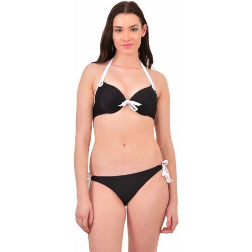 N-Gal Push up halter Bikini Set Solid Women's Swimsuit