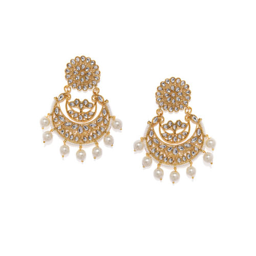 Sukkhi Gold-Plated Crescent Shaped Chandbalis