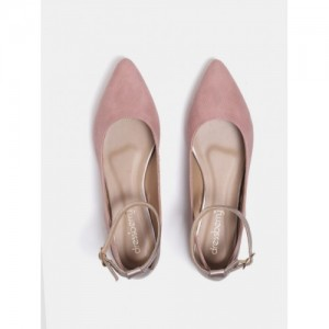 DressBerry PinkSynthetic  Colourblocked Ballerinas