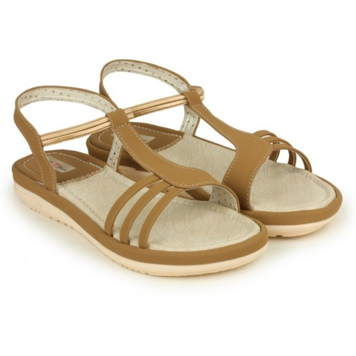 Shezone Beige Synthetic Casual Flats