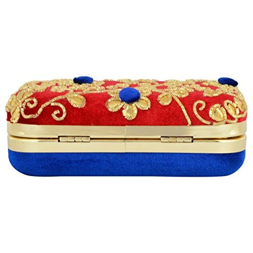 Tooba Handcrafted RGPB Women's Potli (Red)