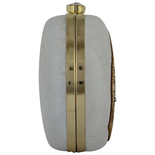 Tooba Handcrafted WSM Women's Potli (White)