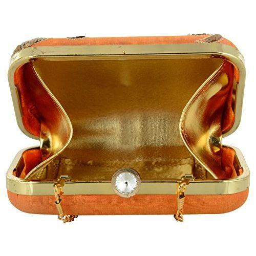 Tooba Handcrafted OSL6 Women's Potli (Orange)