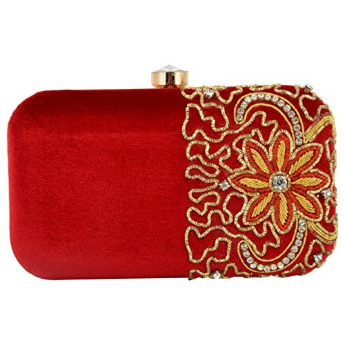 Tooba Handcrafted RCZ6 Women's Potli (Red)