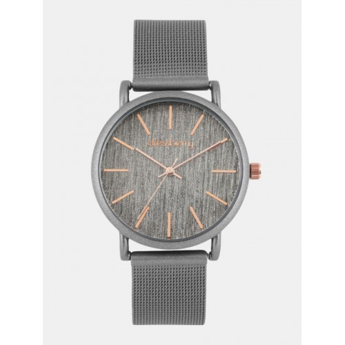 DressBerry Grey Stainless Steel Analogue Watch