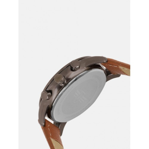 Roadster Unisex Grey & Brown Analogue Watch MFB-PN-LW3746