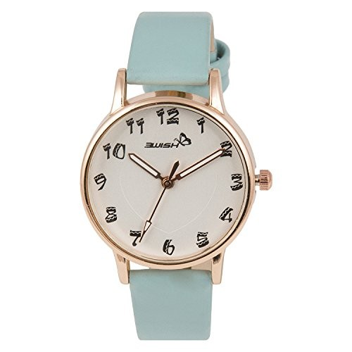 3Wish White Dial and Blue Strap Analog Watch