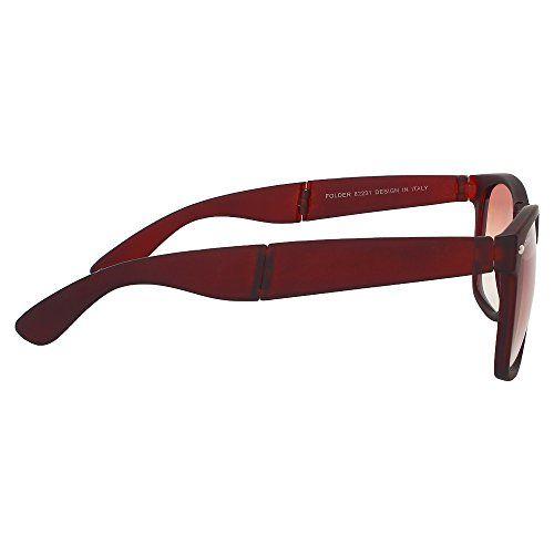 Creature Brown Matte Finish Fold-able Wayfarer UV Protected Unisex Sunglasses(Lens-Brown||Frame-Black||SUN-051)