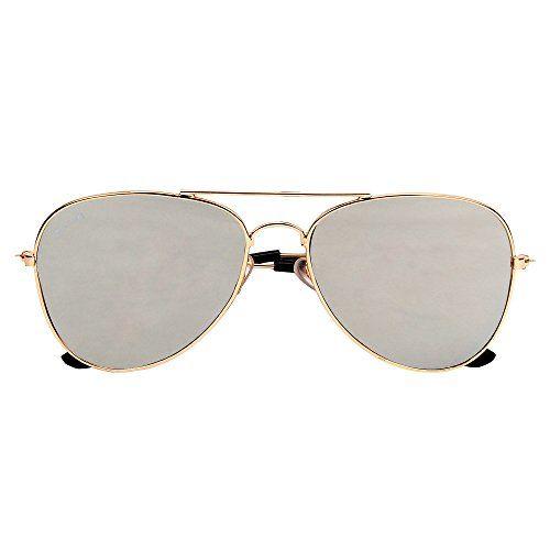 Creature Stylish Metal Golden/Silver Aviator Uv Protected Sunglasses(SUN-043)