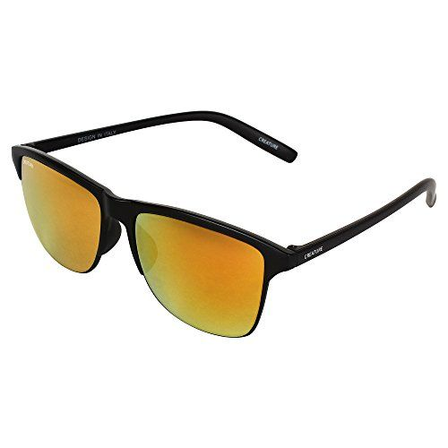 Creature Brown & Yellow Wayfarer Sunglasses Combo with UV Protection (Lens-Brown & Yellow||Frame-Black||Doit-002-005)