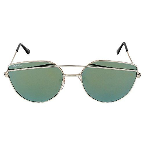 Creature Black & Green Aviator Sunglasses Combo with UV Protection (Lens-Black & Green  Frame-Silver  SUN-007-009)