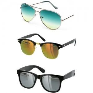 YOUNKY Aviator Sunglasses(Green)