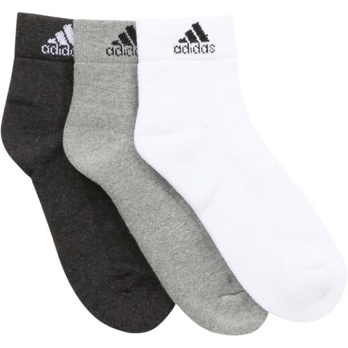 ADIDAS Men's Solid Ankle Length(Pack of 3)