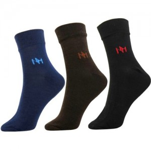 Neska Moda Men's Solid Ankle Length(Pack of 3)