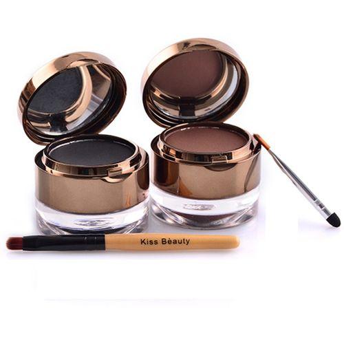 Kiss Beauty Eyebrow & Gel Eyeliner Black&Brown 10 ml(Black&Brown)