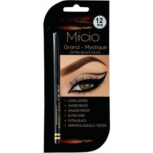 Micio Grand Mystique Extra Black Kajal Water Proof(Dark Black)